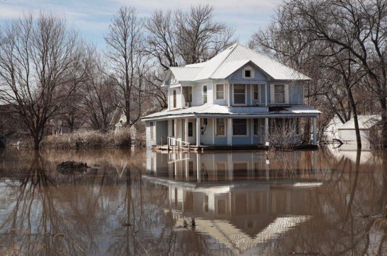 Flood Damaged Walls in Pawhuska Oklahoma