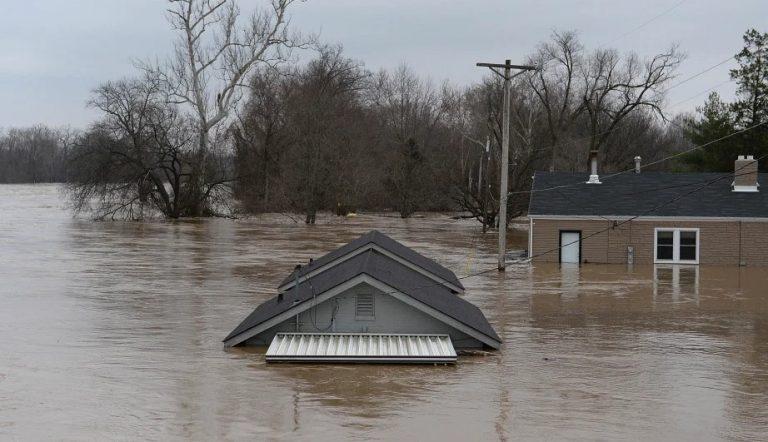 Flood Damaged Walls in Noble Oklahoma