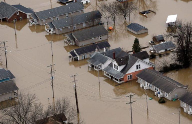 Flood Damaged Wood Floor in Broken Arrow Oklahoma