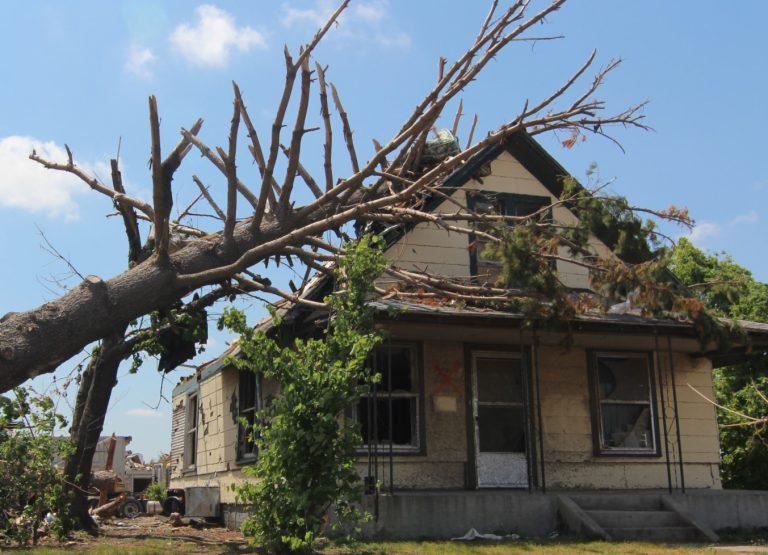 Storm Damaged Roof in Edina Missouri