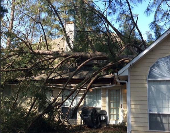 Wind and Hail Damage in Locust Grove Oklahoma