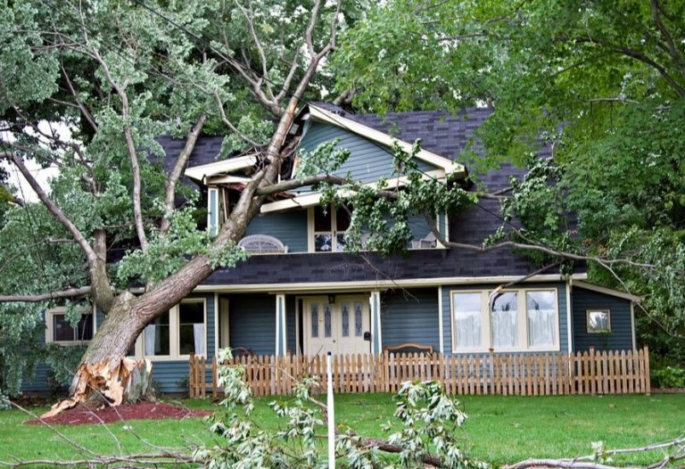 Storm Damaged Roof in Bowling Green Missouri