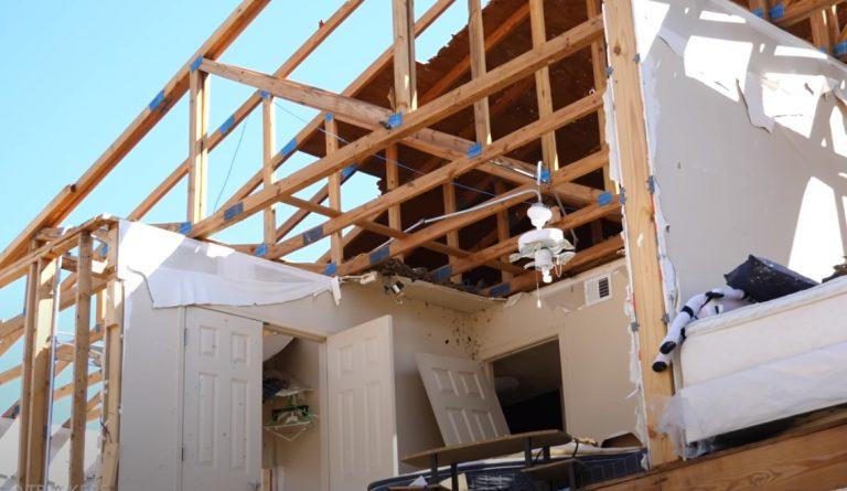 Straight Line Wind Damage in Wetumka Oklahoma