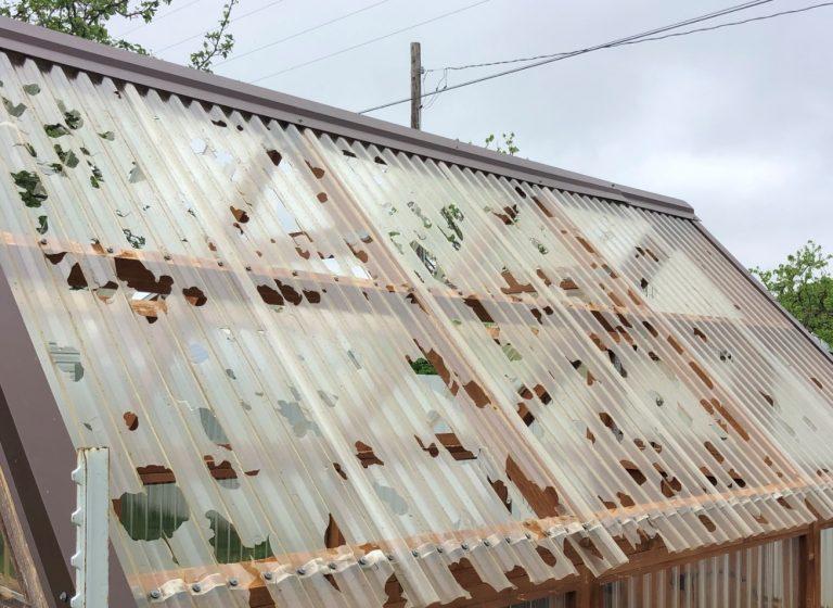 Hail Damaged Vinyl Siding in Saint Clair Missouri